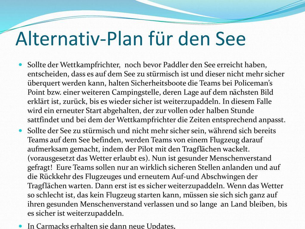 Alternativ-Plan für den See
