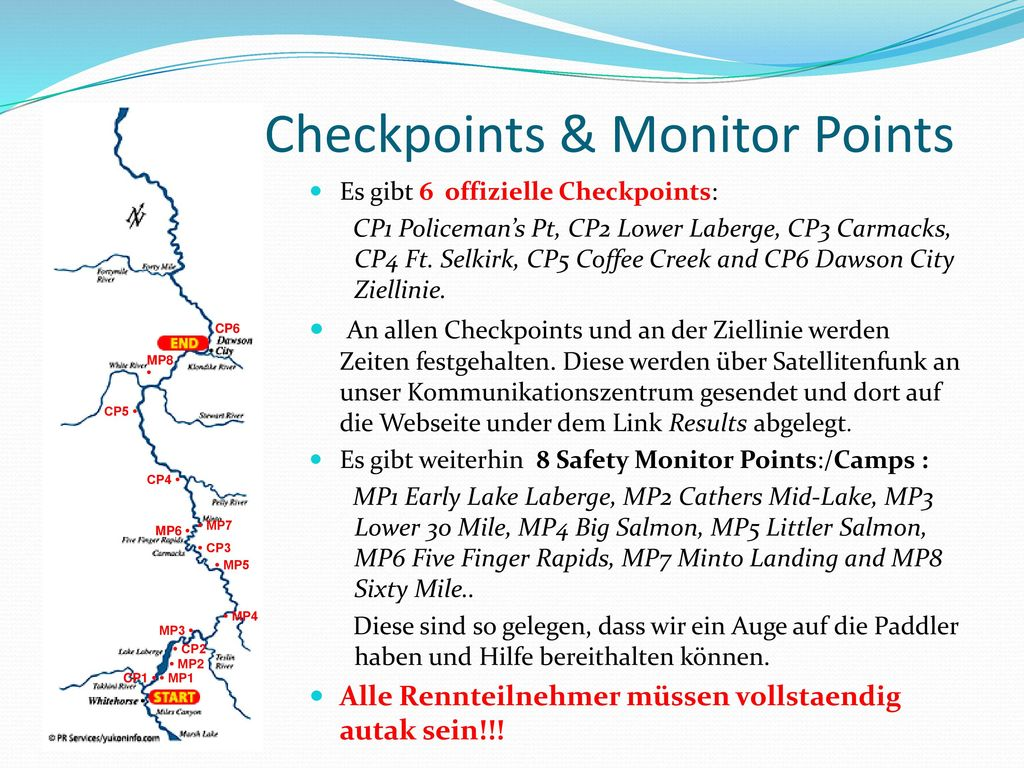 Checkpoints & Monitor Points