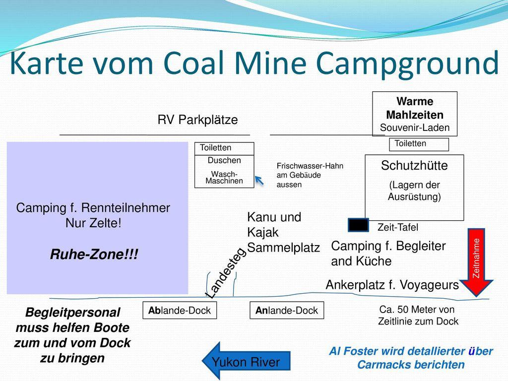 Karte vom Coal Mine Campground