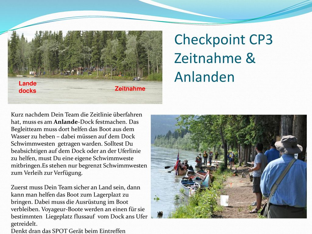 Checkpoint CP3 Zeitnahme & Anlanden