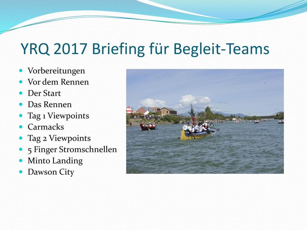 YRQ 2017 Briefing für Begleit-Teams
