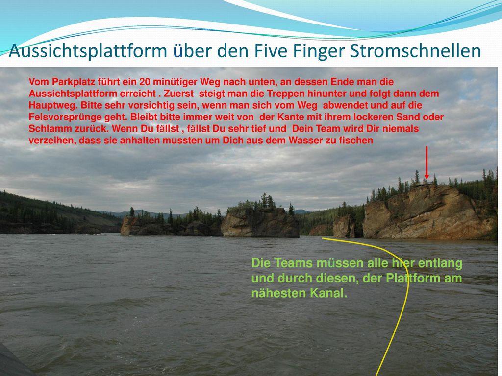 Aussichtsplattform über den Five Finger Stromschnellen
