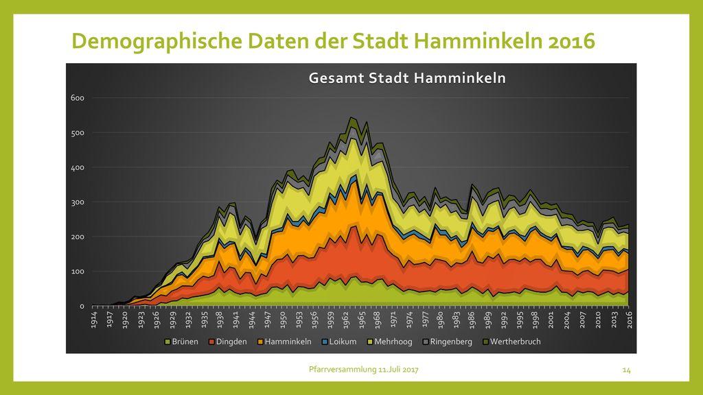 Demographische Daten der Stadt Hamminkeln 2016