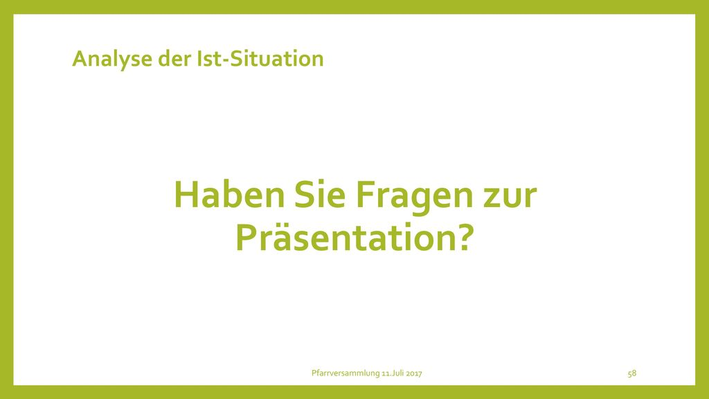 Analyse der Ist-Situation