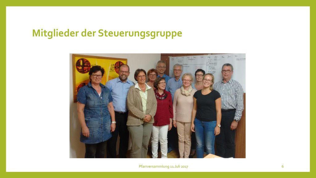 Mitglieder der Steuerungsgruppe