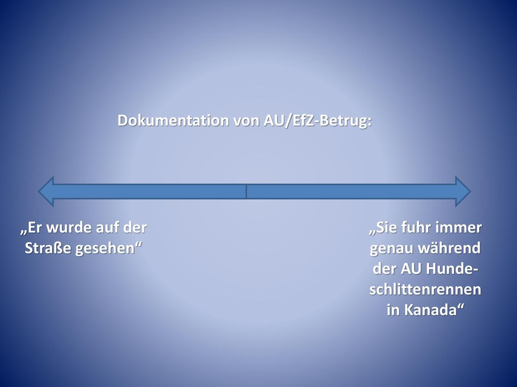 Dokumentation von AU/EfZ-Betrug:
