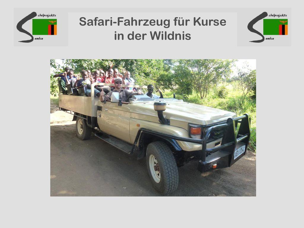 Safari-Fahrzeug für Kurse in der Wildnis