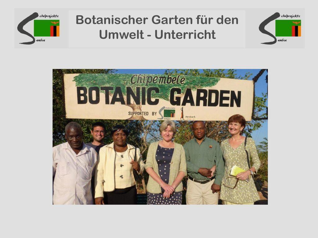 Botanischer Garten für den Umwelt - Unterricht