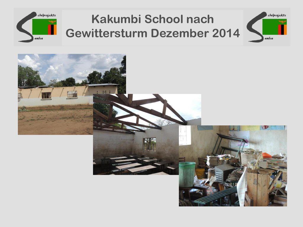 Kakumbi School nach Gewittersturm Dezember 2014