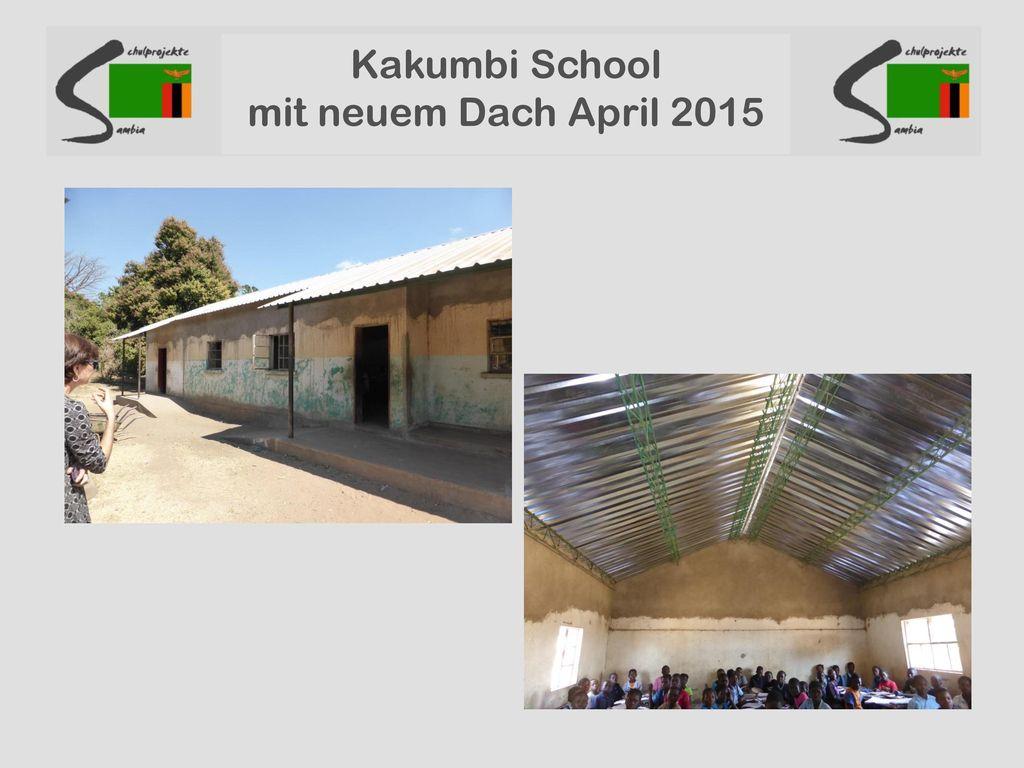 Kakumbi School mit neuem Dach April 2015