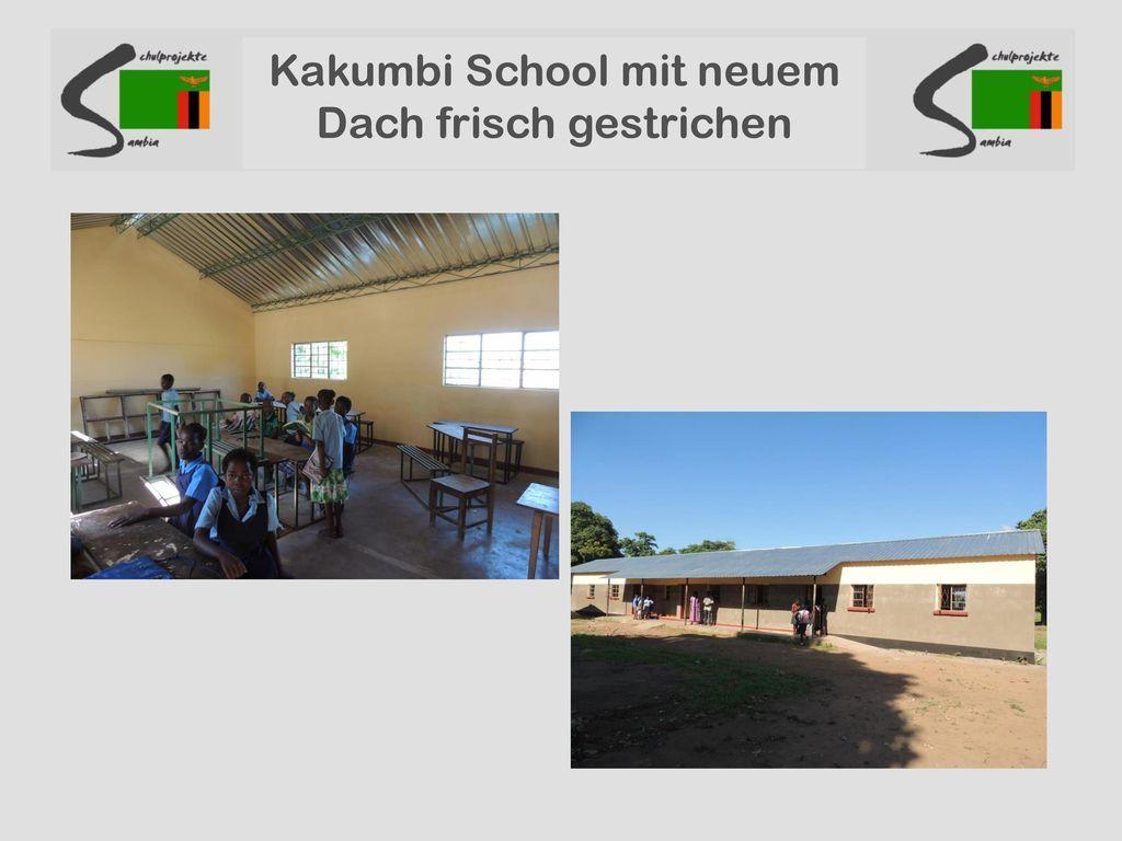 Kakumbi School mit neuem Dach frisch gestrichen