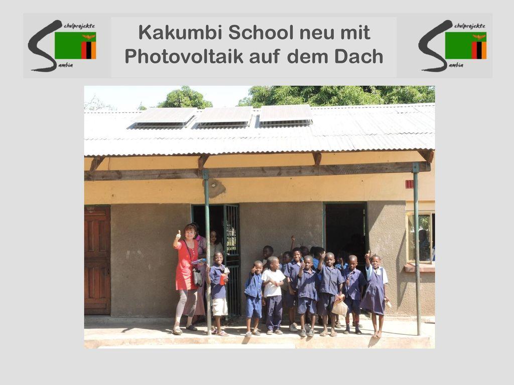Kakumbi School neu mit Photovoltaik auf dem Dach