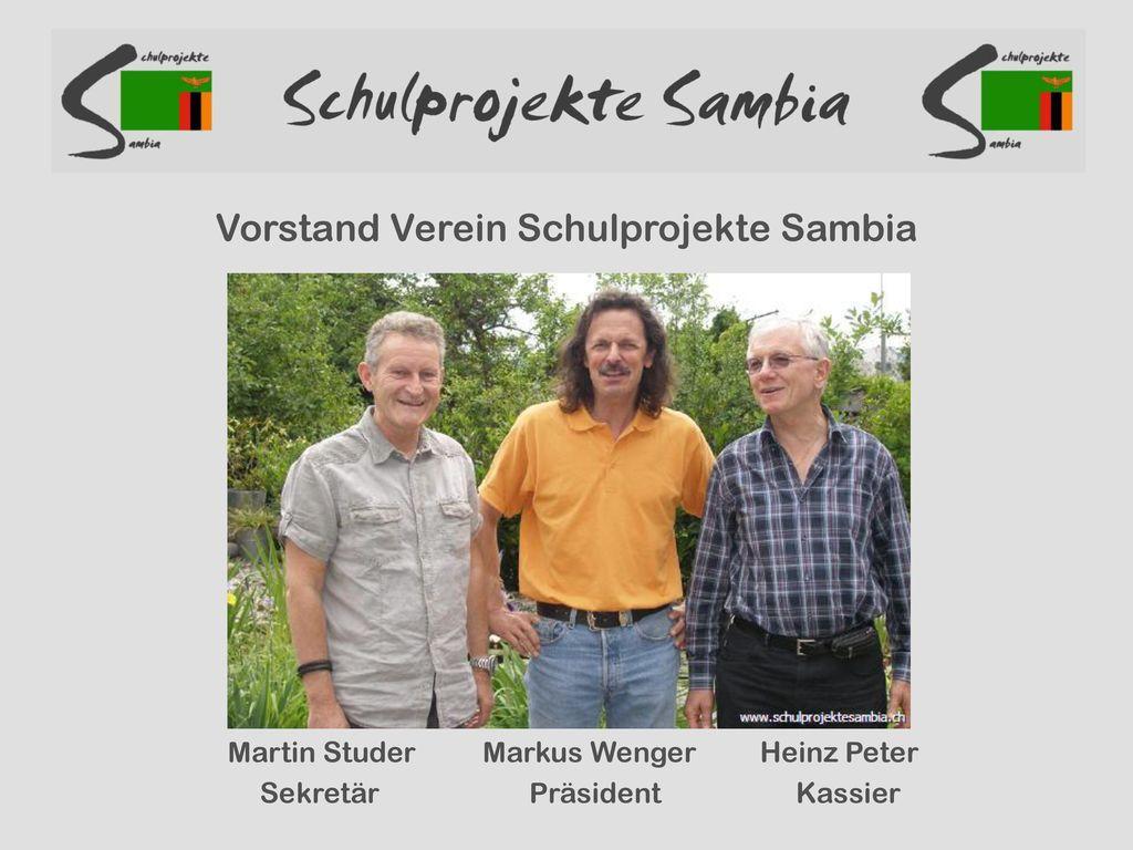 Vorstand Verein Schulprojekte Sambia
