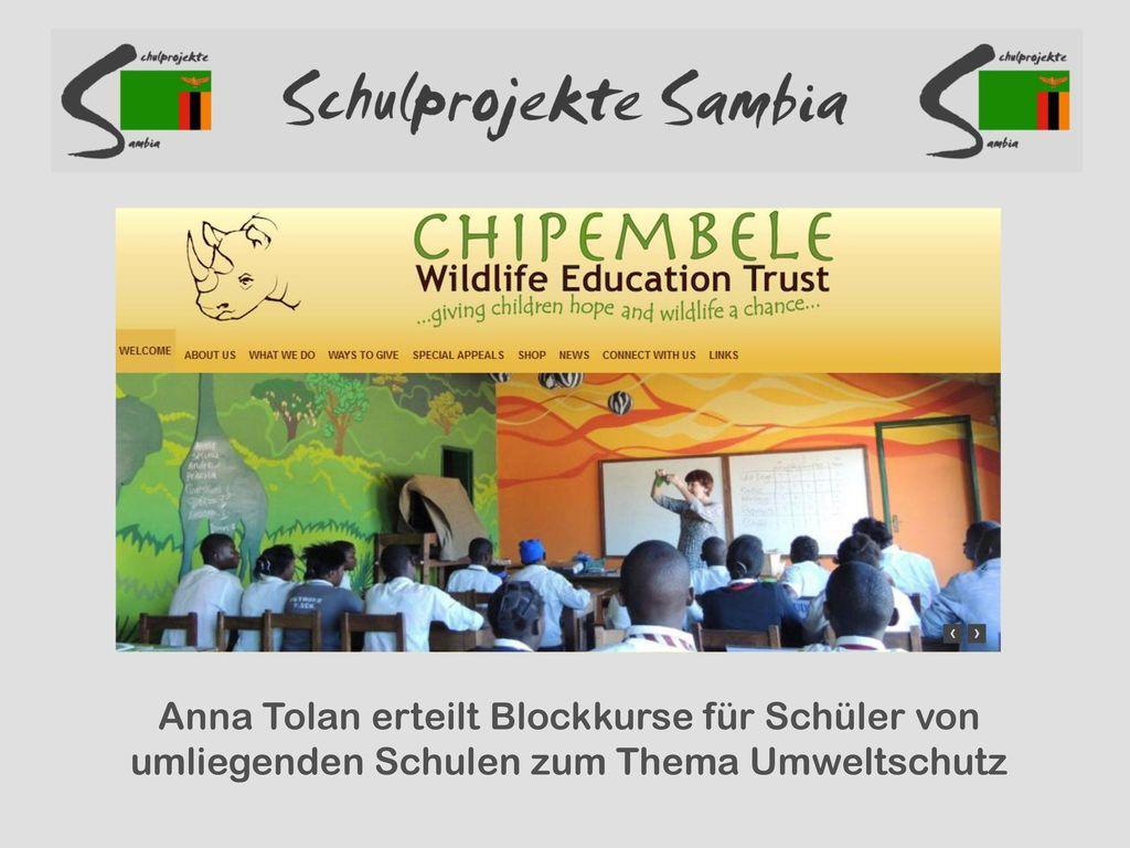 Anna Tolan erteilt Blockkurse für Schüler von umliegenden Schulen zum Thema Umweltschutz