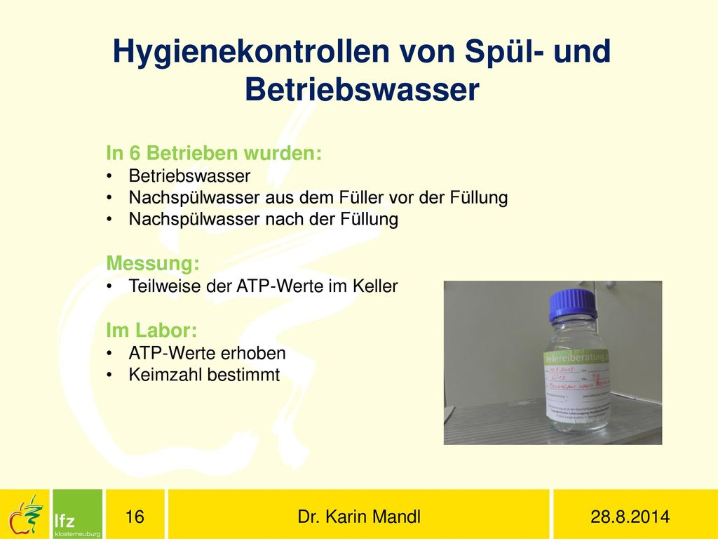 Hygienekontrollen von Spül- und Betriebswasser