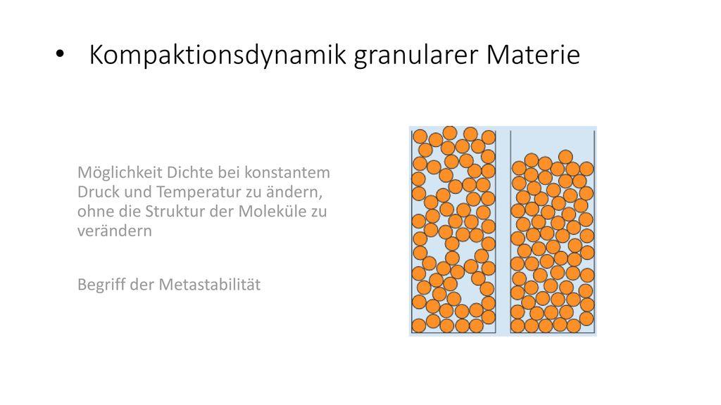 Kompaktionsdynamik granularer Materie