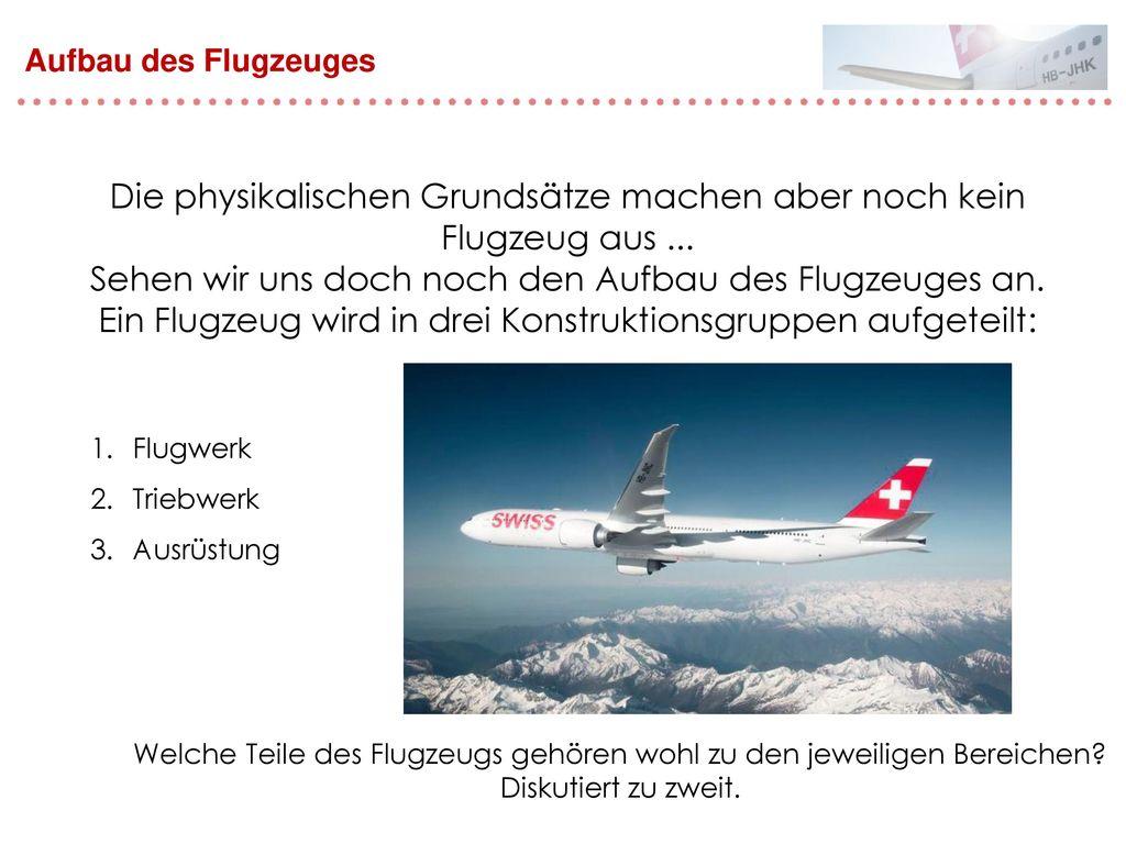 Die physikalischen Grundsätze machen aber noch kein Flugzeug aus ...