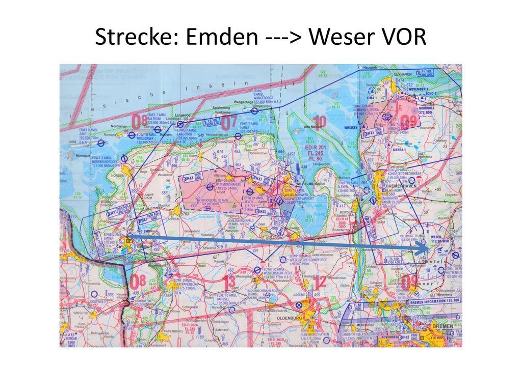 Strecke: Emden ---> Weser VOR