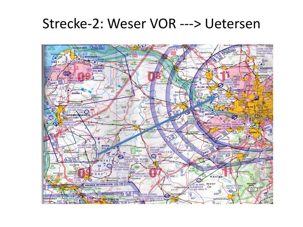 Strecke-2: Weser VOR ---> Uetersen