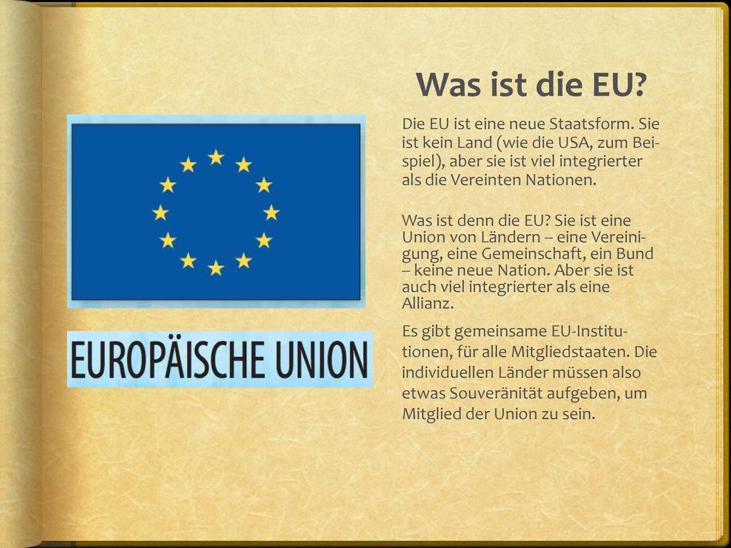Was ist die EU