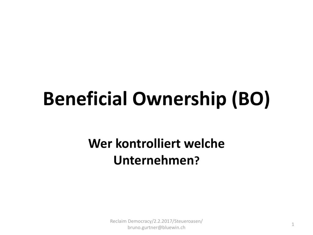 Beneficial Ownership (BO)