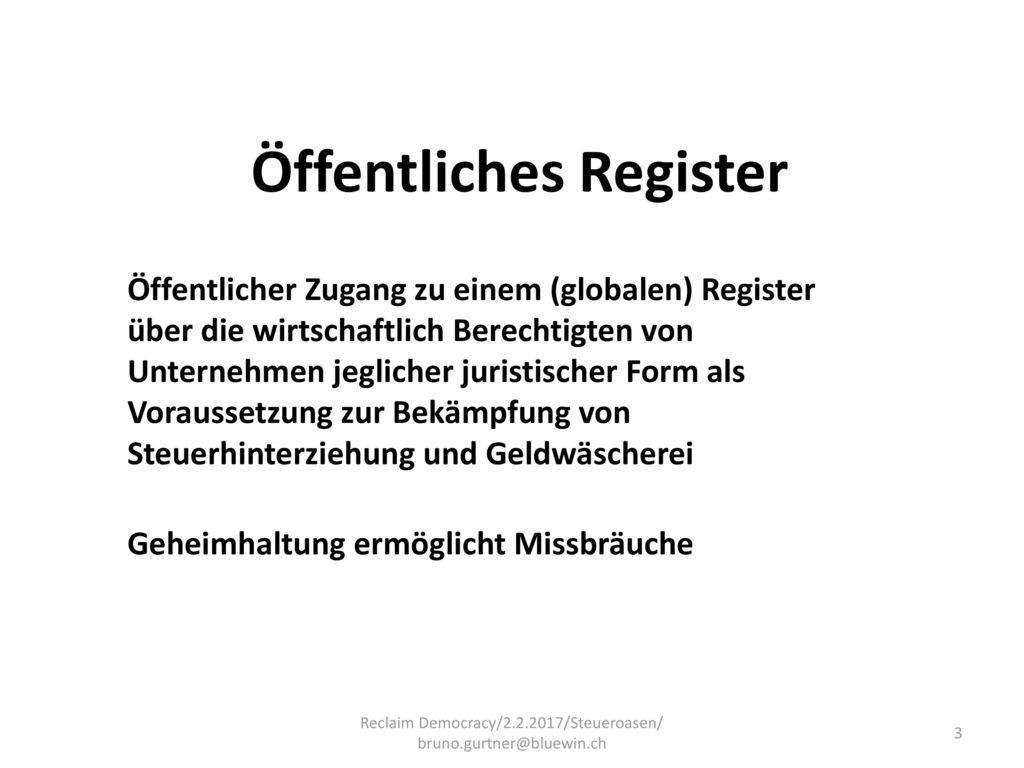 Öffentliches Register