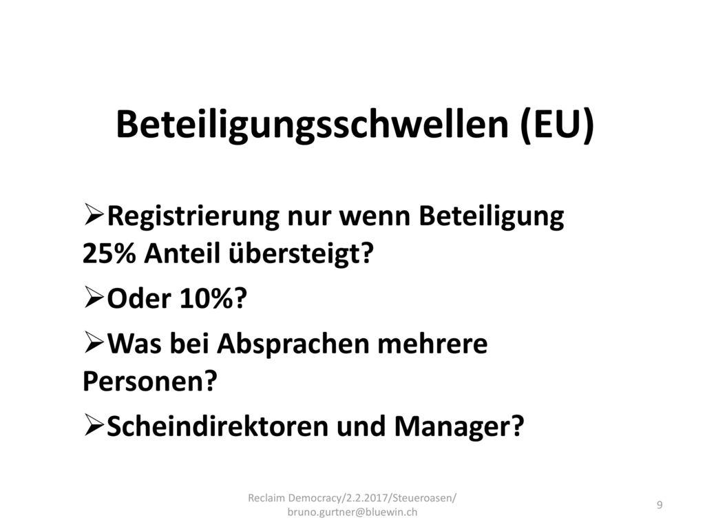 Beteiligungsschwellen (EU)