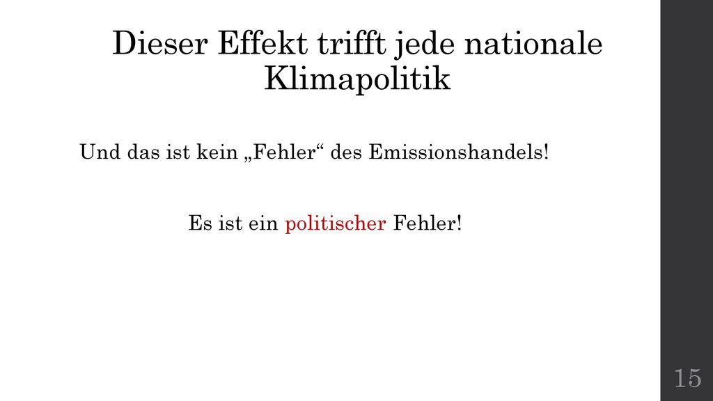 Dieser Effekt trifft jede nationale Klimapolitik