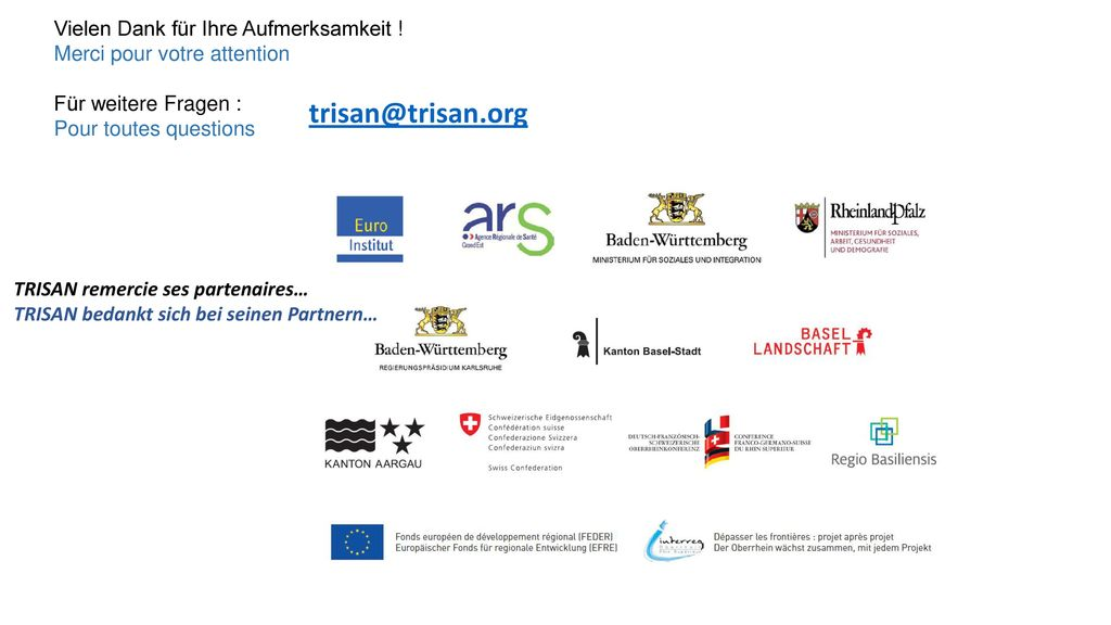 trisan@trisan.org Vielen Dank für Ihre Aufmerksamkeit !