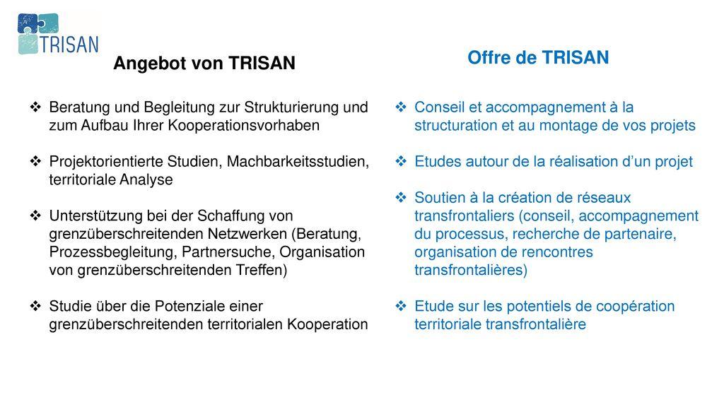 Offre de TRISAN Angebot von TRISAN