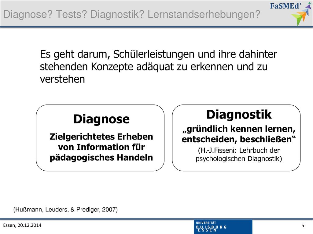 Diagnostik Diagnose Diagnose Tests Diagnostik Lernstandserhebungen