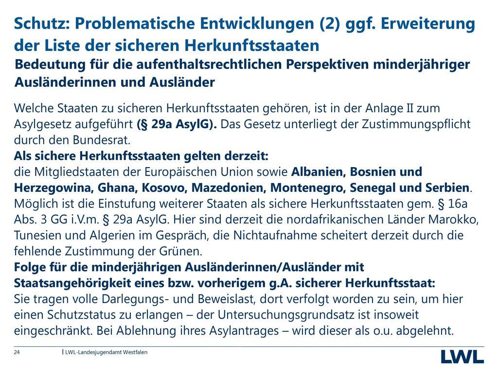 Schutz: Problematische Entwicklungen (2) ggf