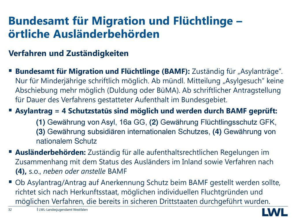 Bundesamt für Migration und Flüchtlinge – örtliche Ausländerbehörden