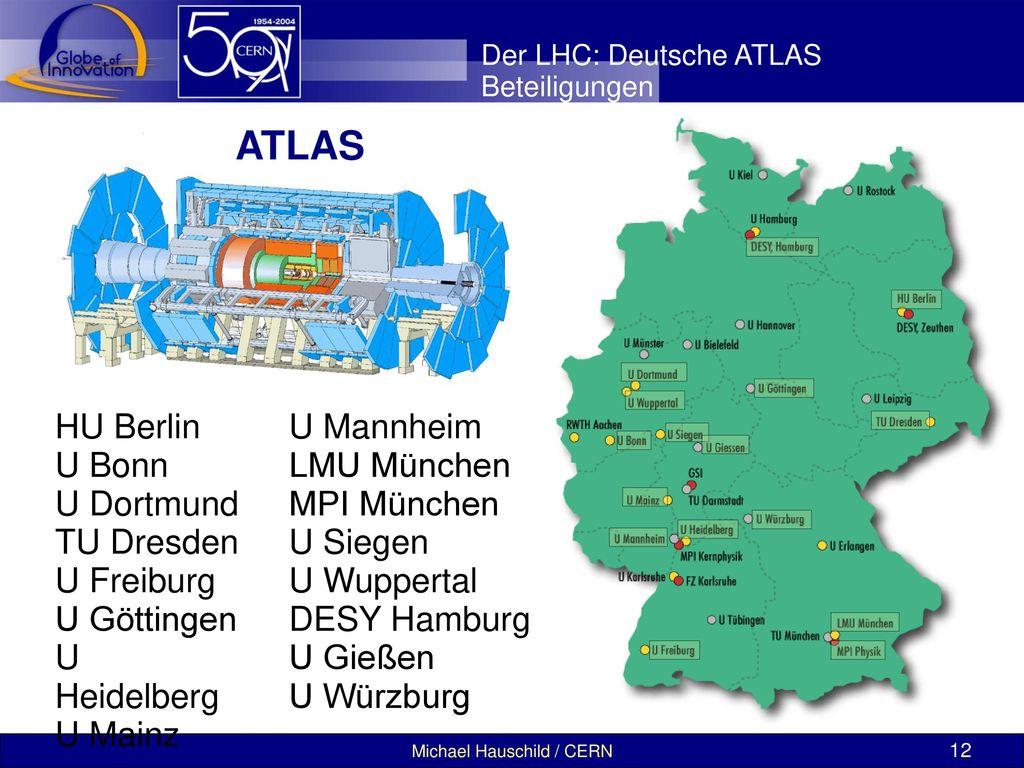 ATLAS HU Berlin U Bonn U Dortmund TU Dresden U Freiburg U Göttingen
