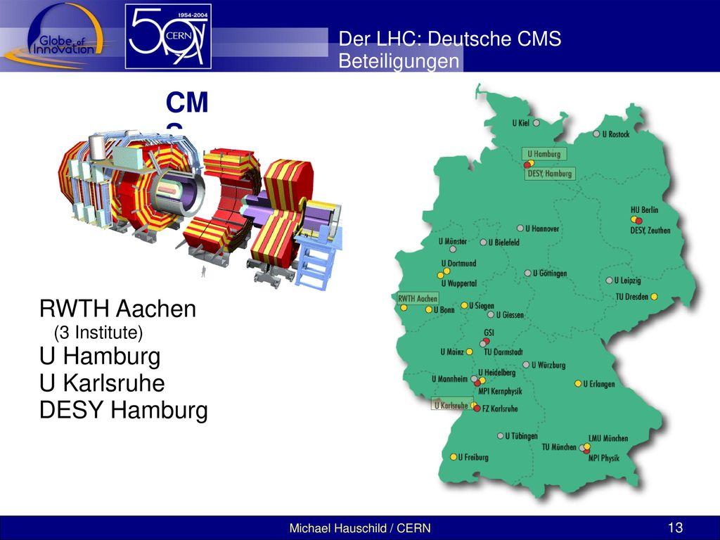 CMS RWTH Aachen U Hamburg U Karlsruhe DESY Hamburg