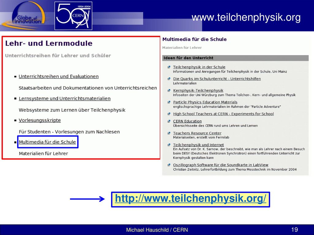 www.teilchenphysik.org http://www.teilchenphysik.org/