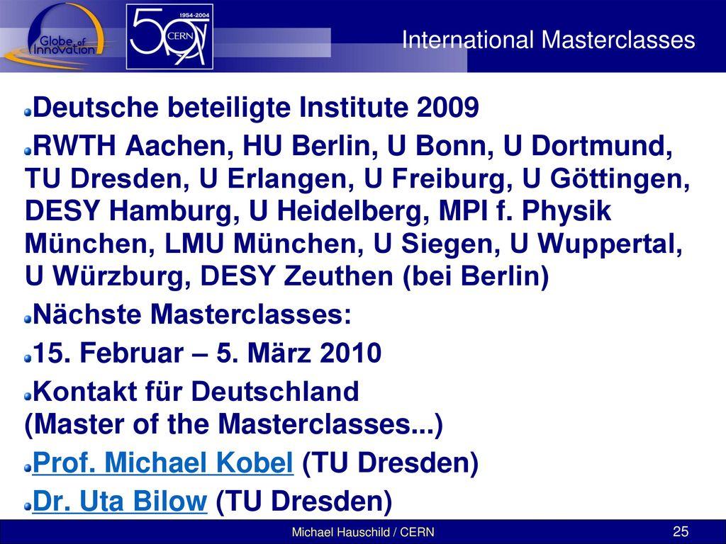 International Masterclasses