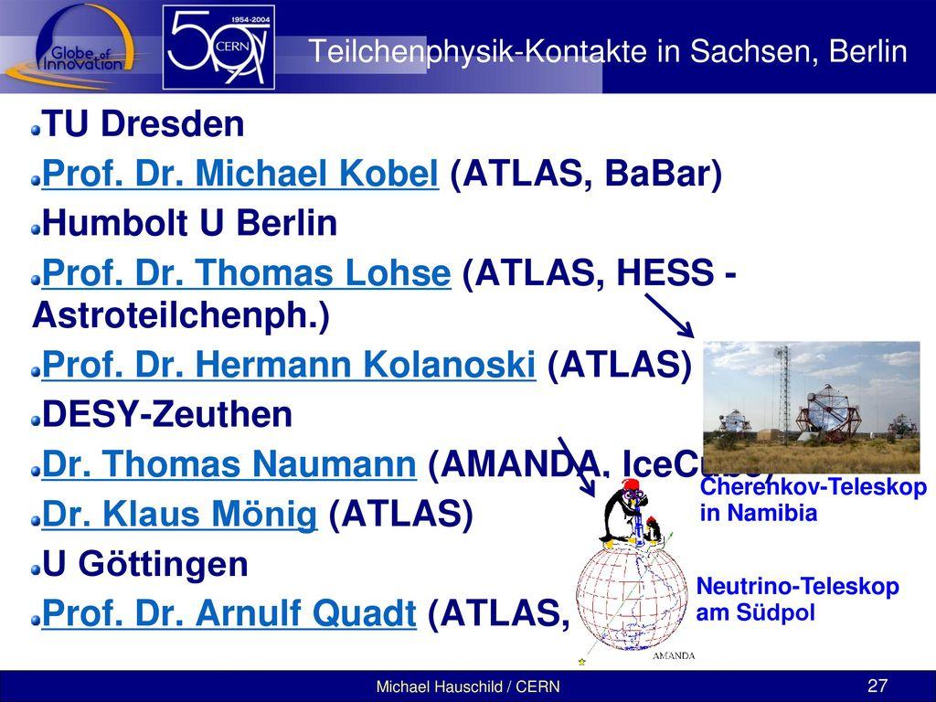 Teilchenphysik-Kontakte in Sachsen, Berlin