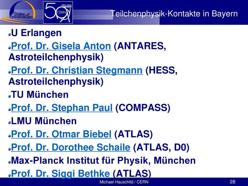 Teilchenphysik-Kontakte in Bayern