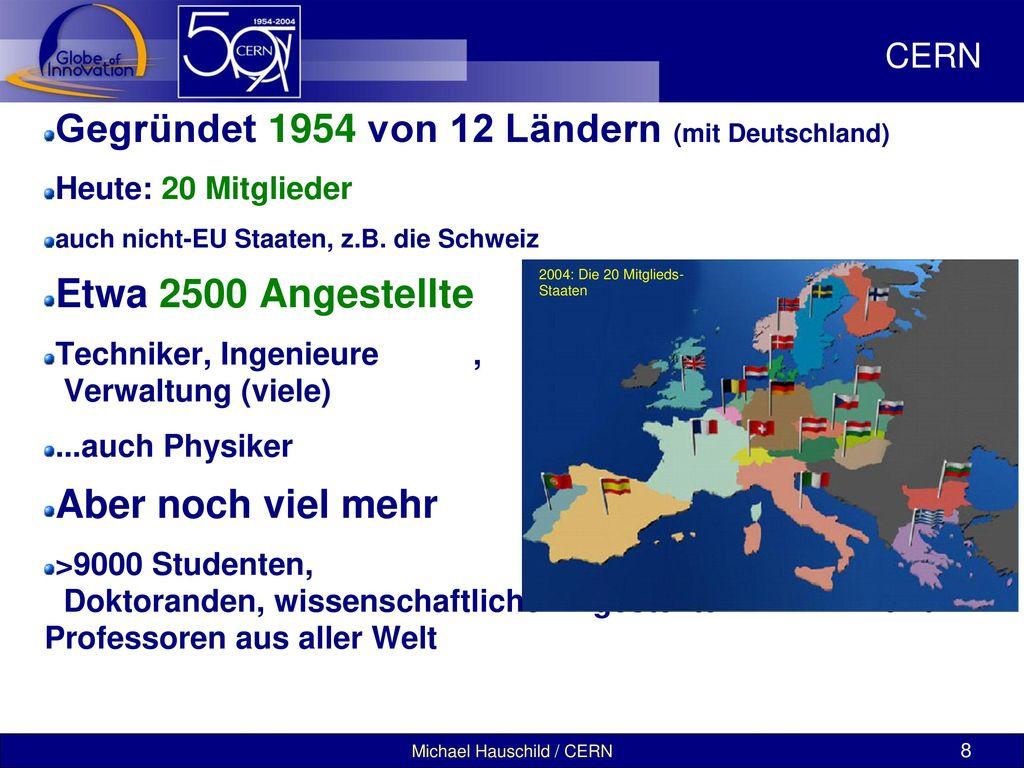 Gegründet 1954 von 12 Ländern (mit Deutschland)