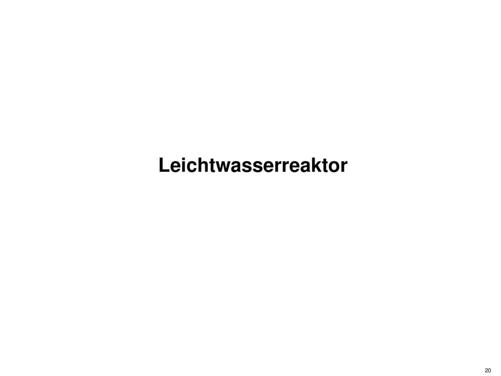 Leichtwasserreaktor