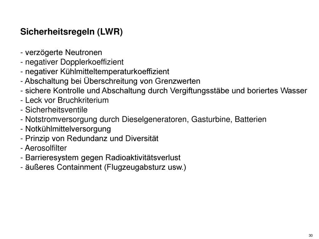 Sicherheitsregeln (LWR)