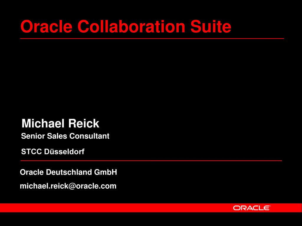 Oracle Collaboration Suite