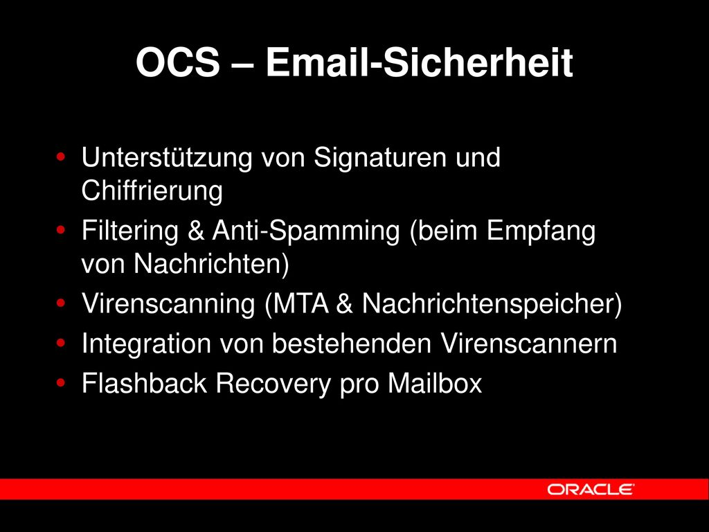OCS – Email-Sicherheit