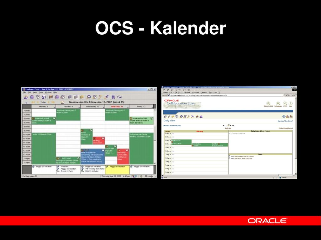 OCS - Kalender