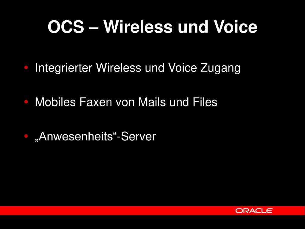 OCS – Wireless und Voice