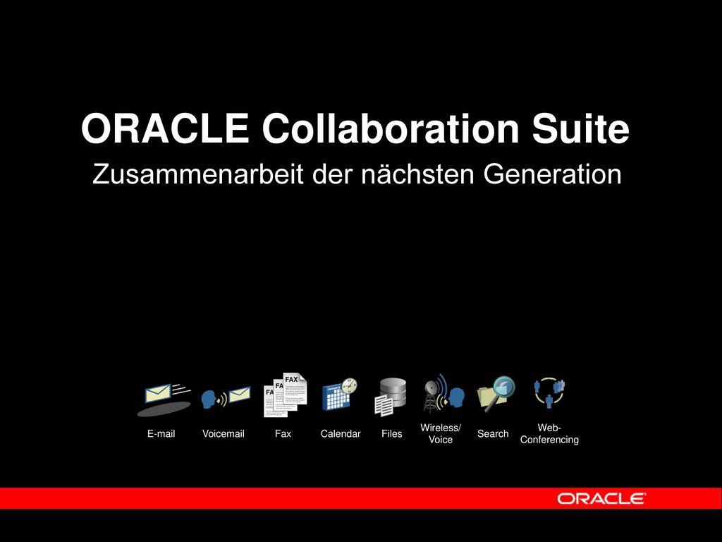 ORACLE Collaboration Suite
