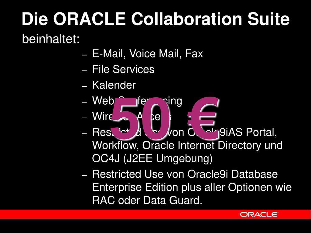 Die ORACLE Collaboration Suite