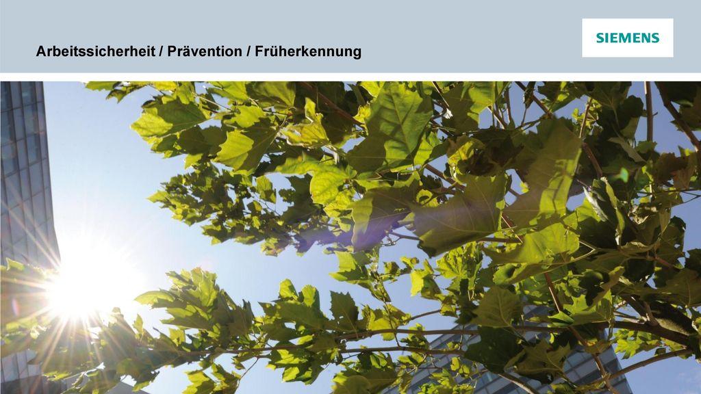 Arbeitssicherheit / Prävention / Früherkennung
