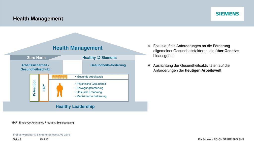 Arbeitssicherheit / Gesundheitsschutz Gesundheits-förderung